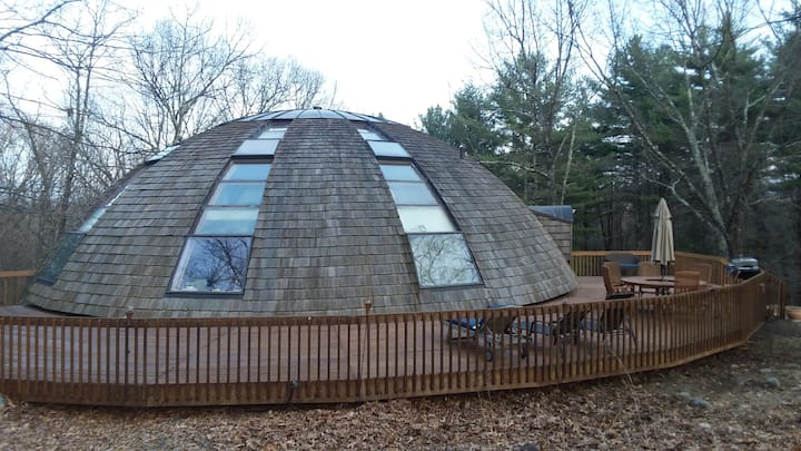 Unique Dome home on a 28 acre forest