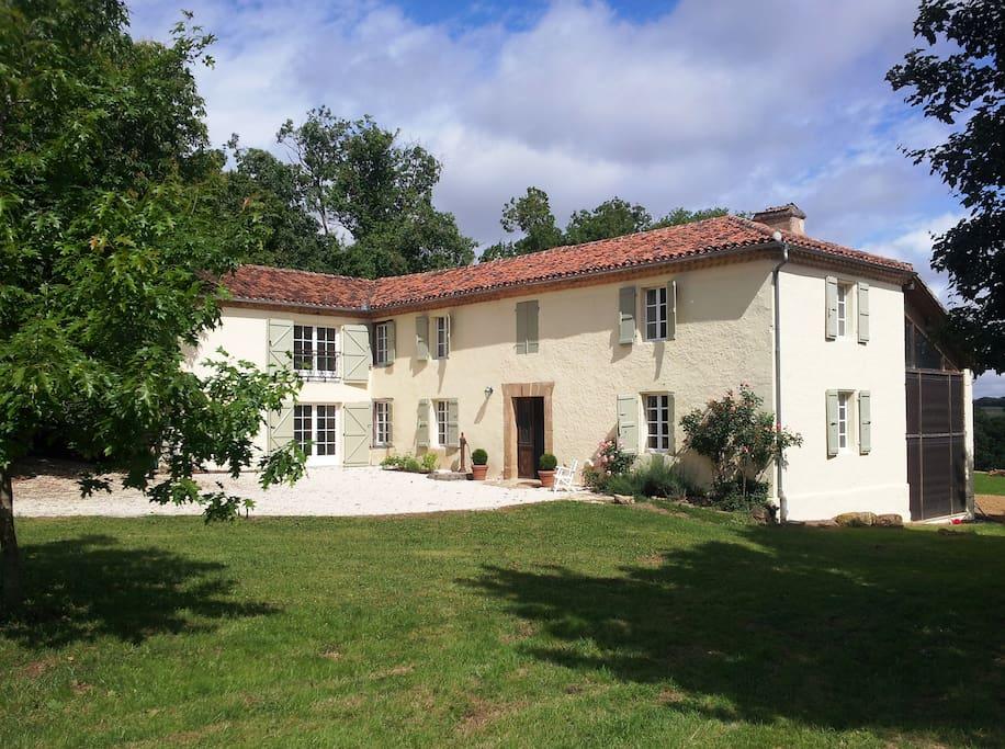 Traditional Gascon farmhouse built in 1840