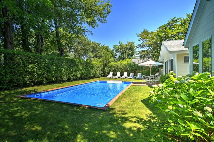 Heated Pool! Modern Kitchen! East Hampton Village!