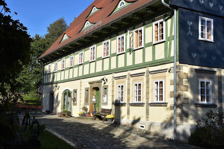 Ferienwohnungen Grünsteinhof in der Oberlausitz