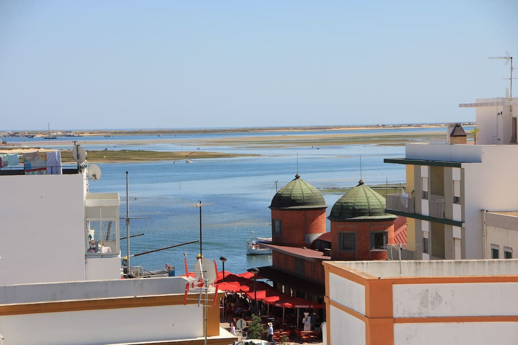 Views from the roof garden terrace of Pension Bicuar Residencial