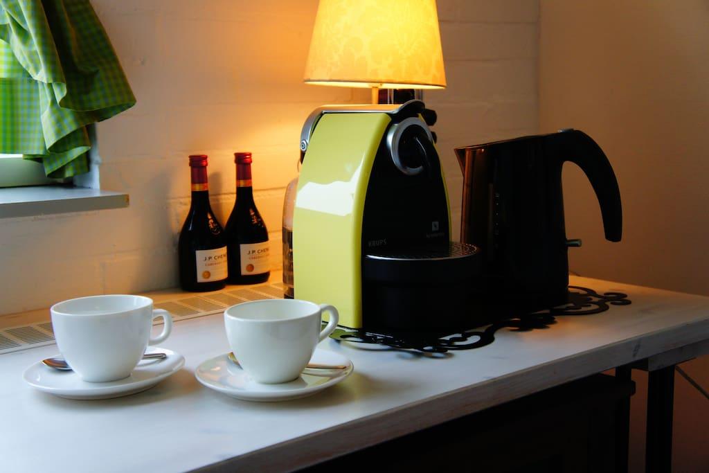 Gratis koffie en thee, een wijntje moet je betalen