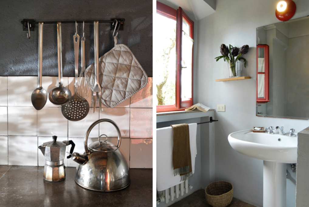 Your own kitchen and a modern bathroom