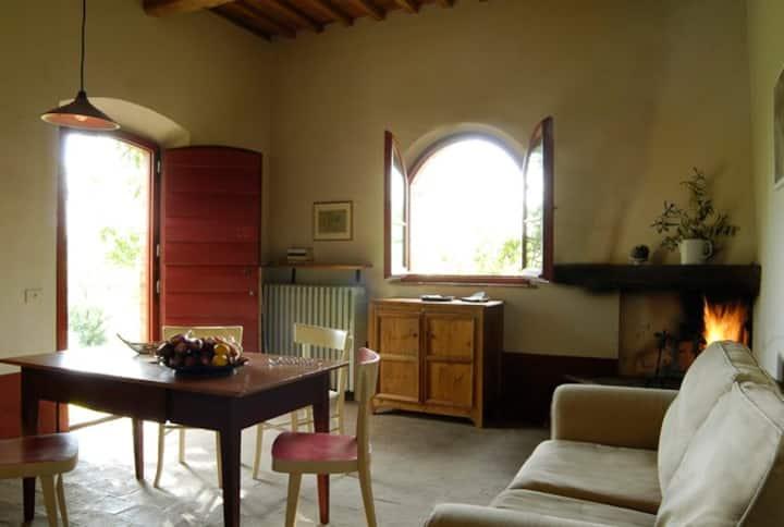 Cozy, rustic house in organic farm