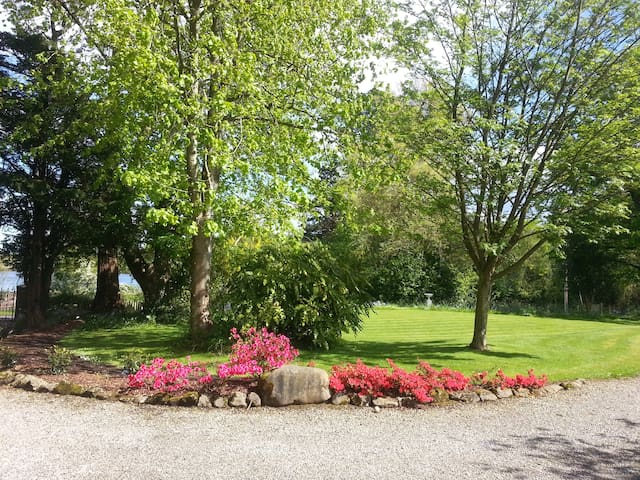 Five acres of mature gardens on the shores of beautiful Strangford Lough