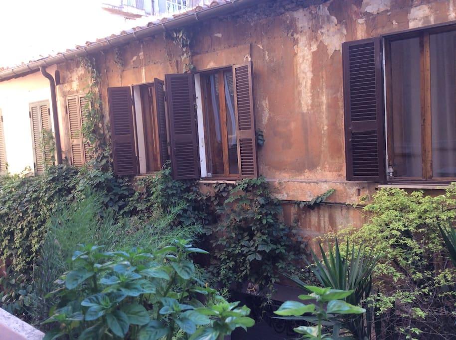 Vista da una delle finestre