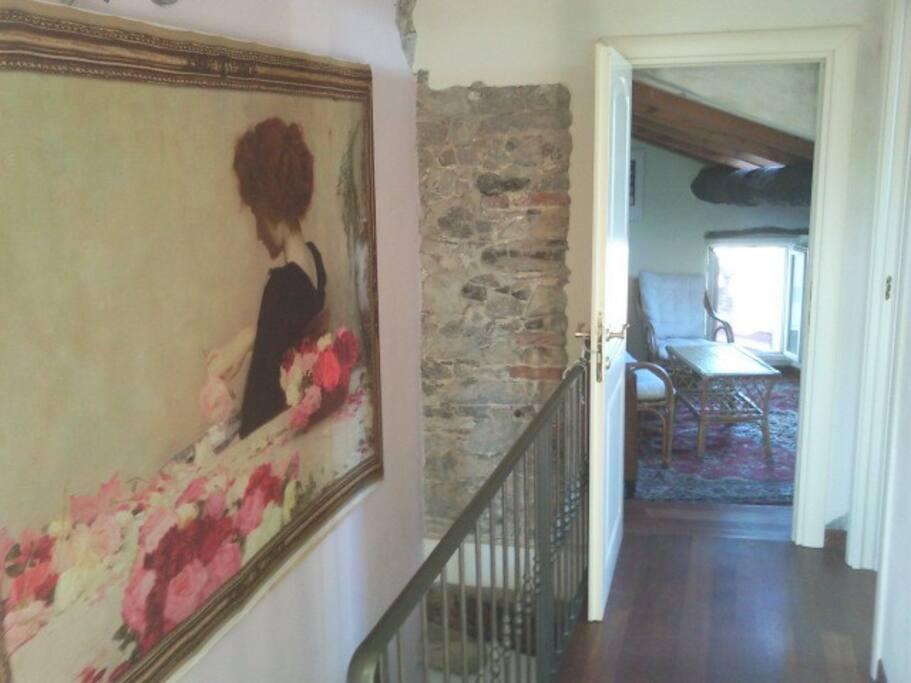 Il corridoio al piano di sopra