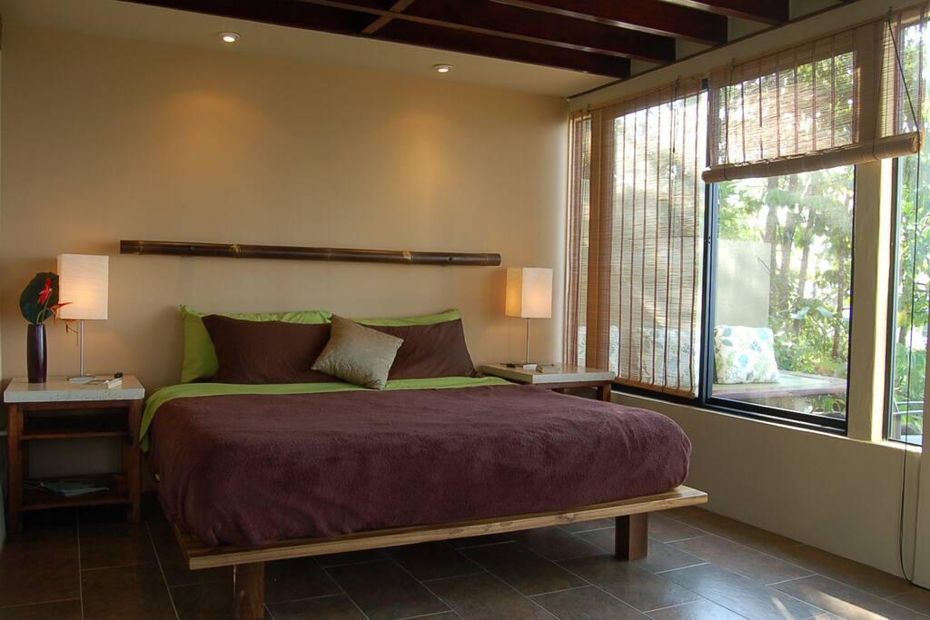 Master bedroom with King size bed and ocean views!