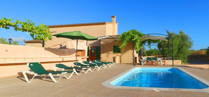 Country Home Sa Torreta with Pool, Terrace, Wi-Fi & Air Conditioning; Parking Available, Pets Allowed