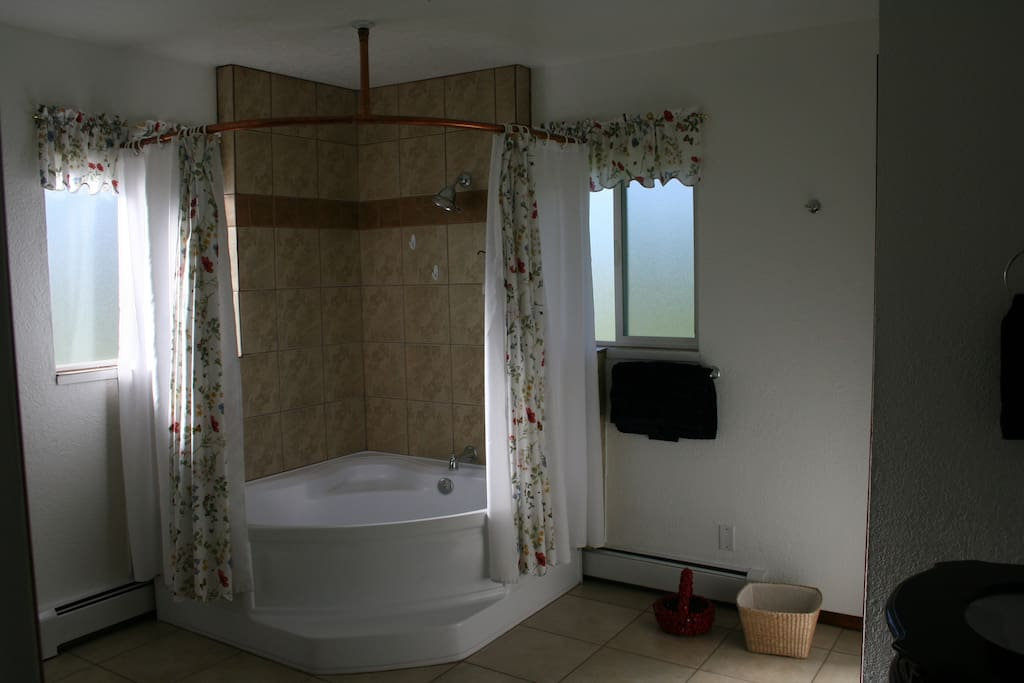 Big beautiful bathroom and a tub for two