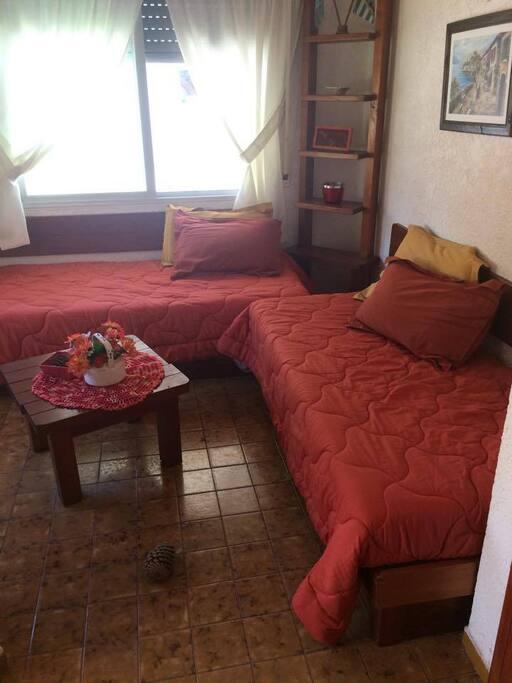 Living con dos camas