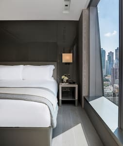 Each bed has Frette bed linen, a Simmons mattress and white goose down duvet and pillows