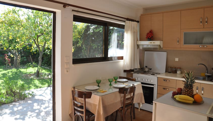 Sunny apartment with garden - Nafpaktos - Appartement
