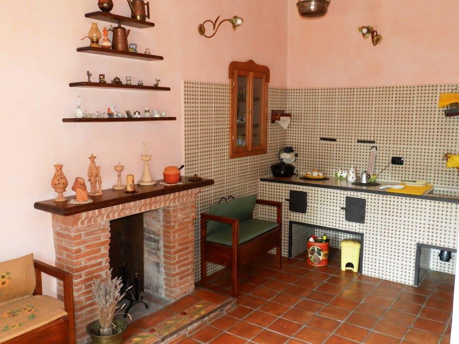 ingresso comune alle camere da letto, con possibilità di prepararsi caffè, tè, ecc.