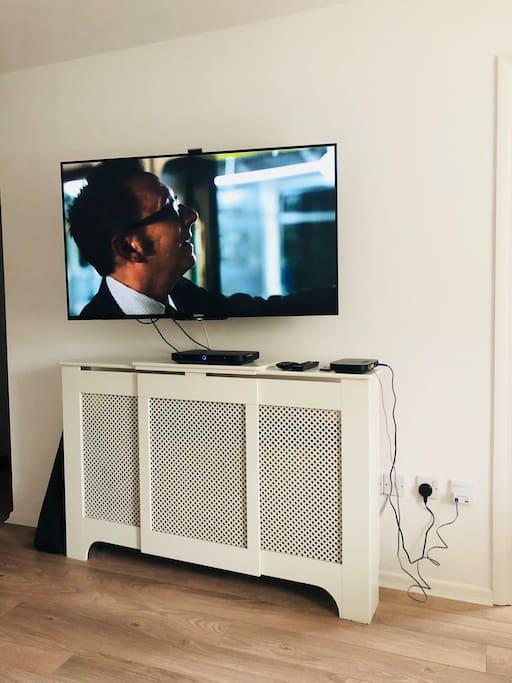 "49"" 4K Ultra HD tv, Sky movies, Netflix"