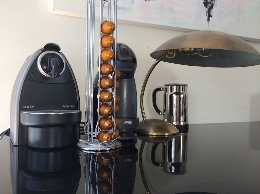 Nespresso coffe machine for soft mornings.