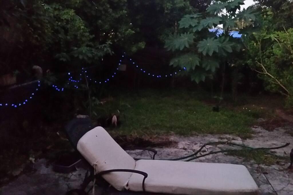 Nice private backyard!