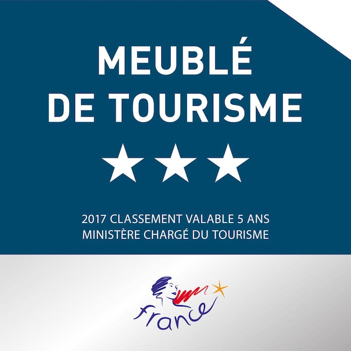 Classement Meublé de Tourisme 3*