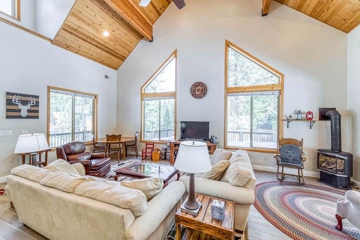 Cozy, family friendly retreat w/ wraparound deck, foosball, gas fireplace, grill