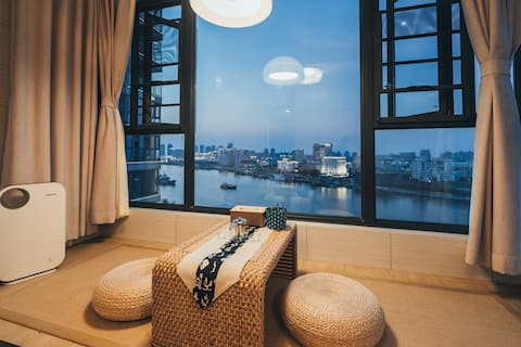 【 Coast · Guest 】 High Floor Seaview Room/Downtown Haikou Beach/Big Pool/Riding Tower Old Street/Duty Free Shop/Hainan University/Dotted Host Avatar Multiple Listings