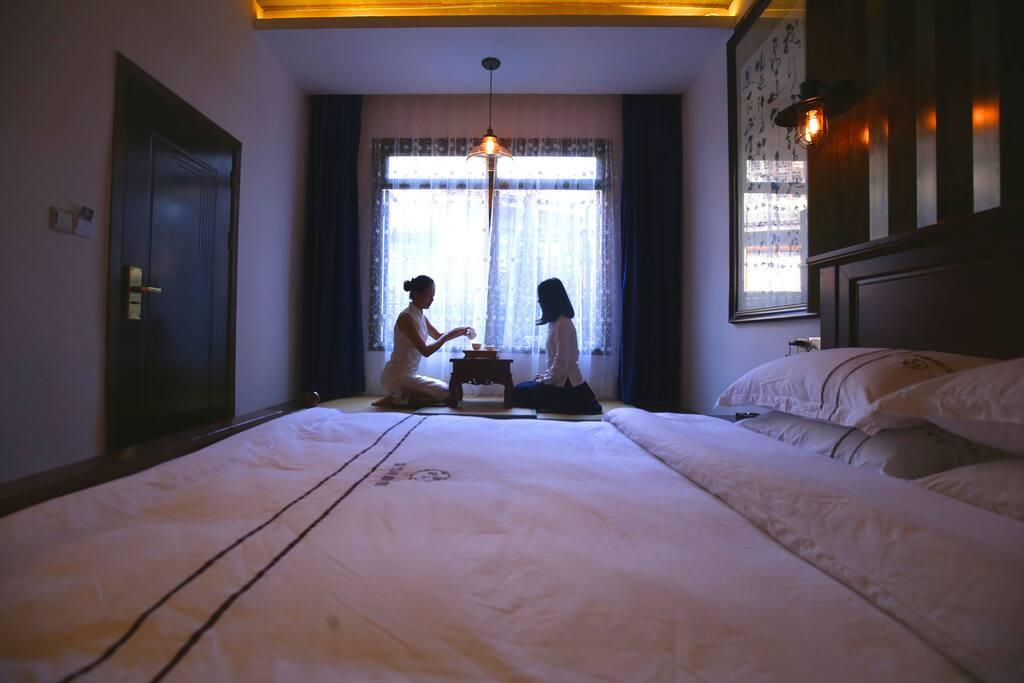 西原民宿的大床房