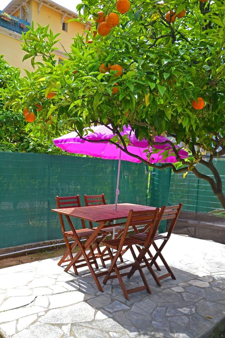 Duplex Nice, 5 min de la mer, avec jardin/terasse