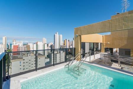 sol e praia em bairro nobre  - Recife - Loft