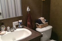 2nd bath also has a tub and shower combination.