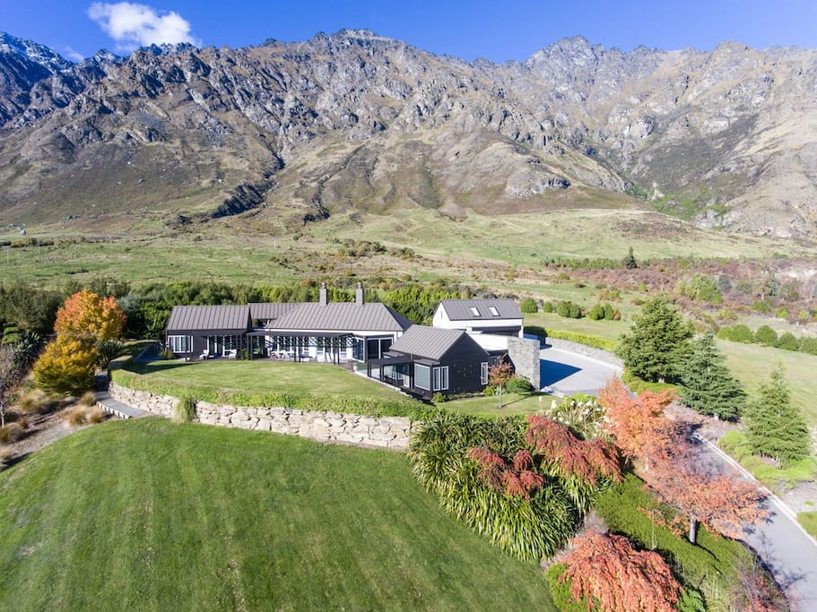 Nestled in a quiet Estate at the base of the Remarkable Mountains