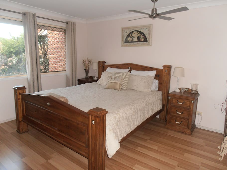 Your stunning King bedroom with A/C