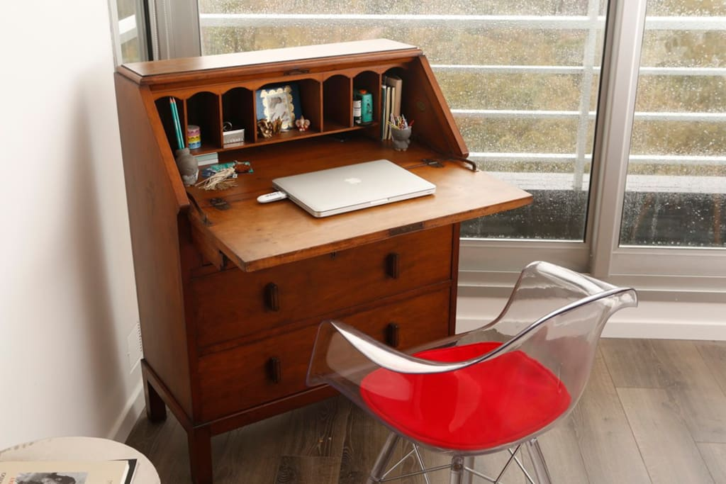 Antique desk for inspiration.