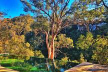 We overlook Stonequarry creek, a major tributary to the Nepean River, which is about 3 km downstream.