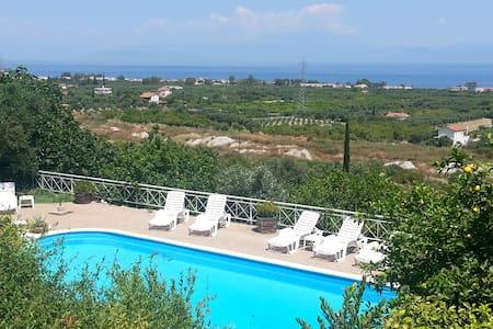 Sea view Villa beautiful garden  - Melissi