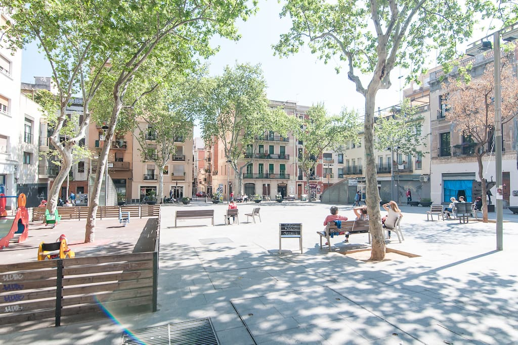 Enjoy some people watching in one of the many beautiful squares in Gracia.