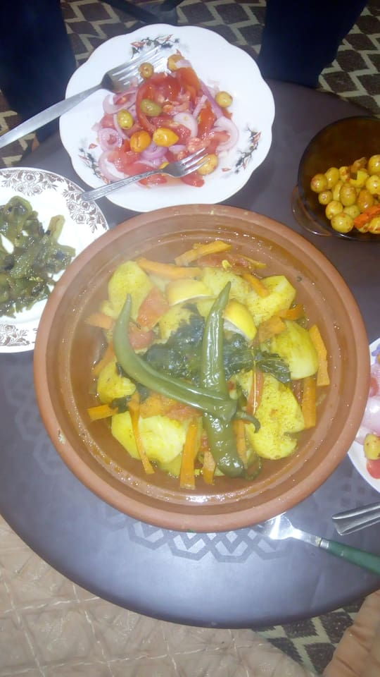 Moroccan tajine is offered everyday
