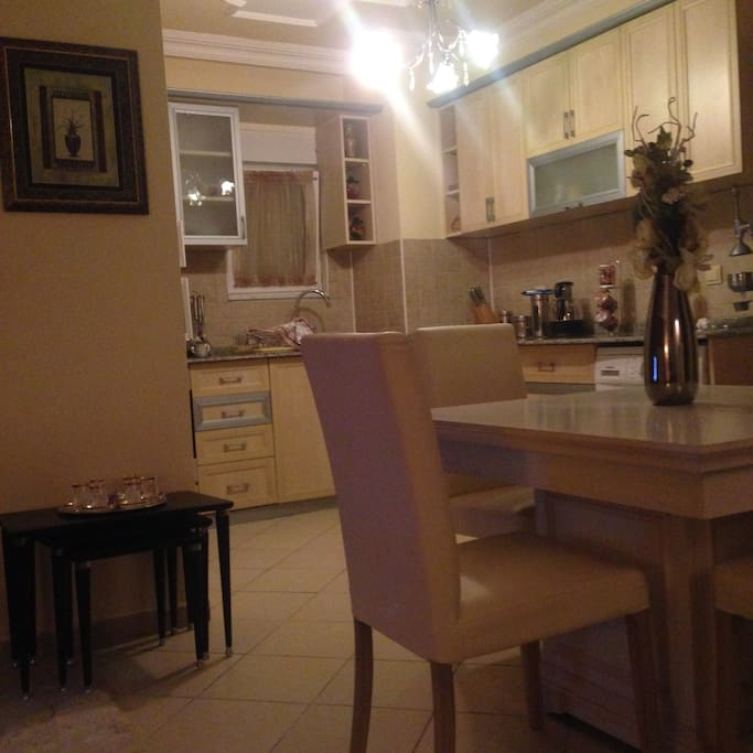 Kitchen Area all white goods included plus dishwasher!