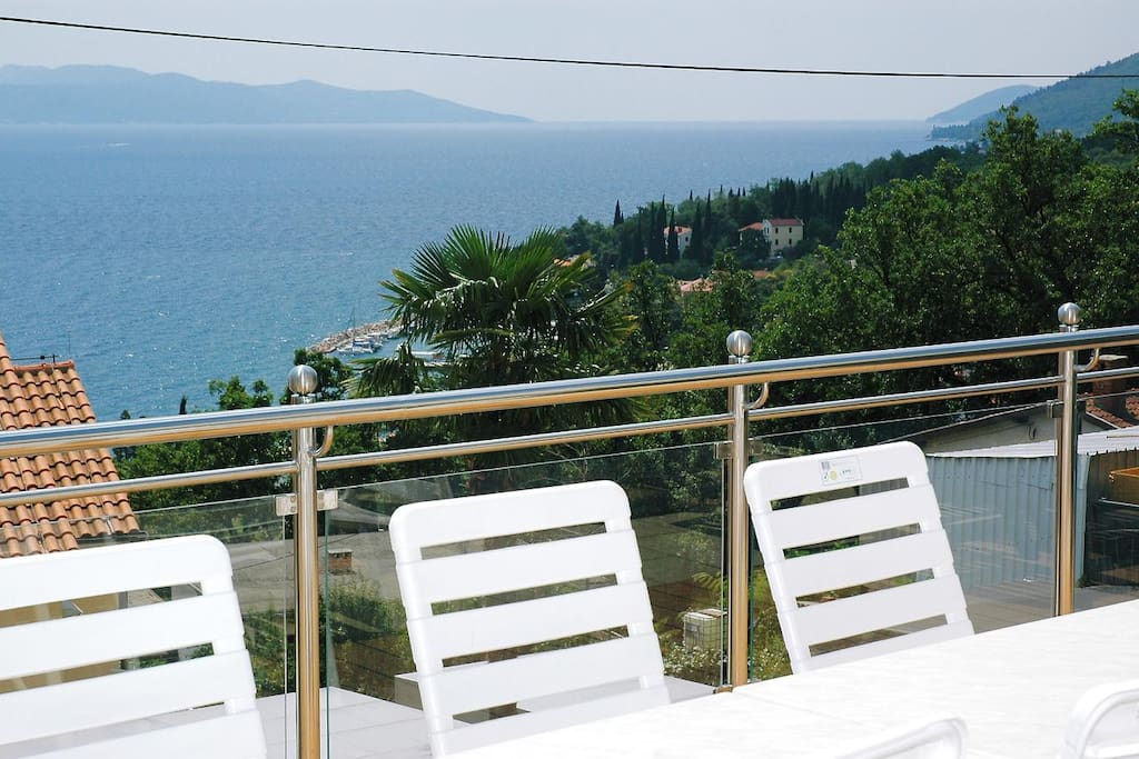 Sea view from wellness terrace.