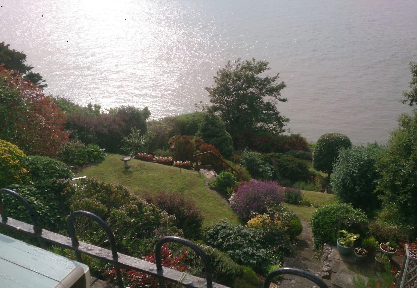View from terrace into Garden