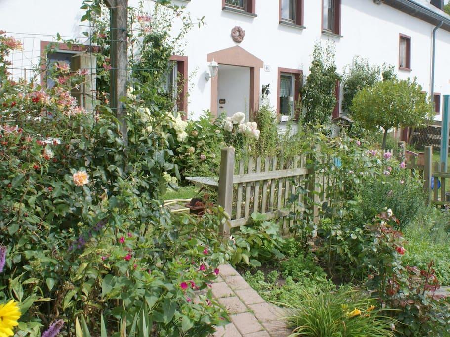 Der Weg zum Garten.