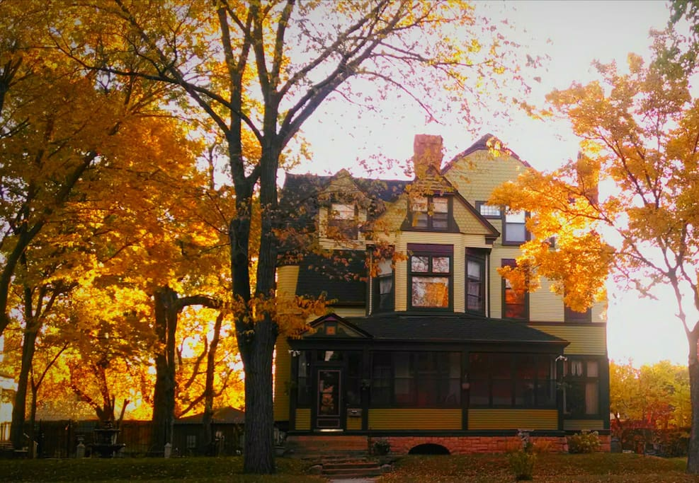 Our house on a lovely fall morning.