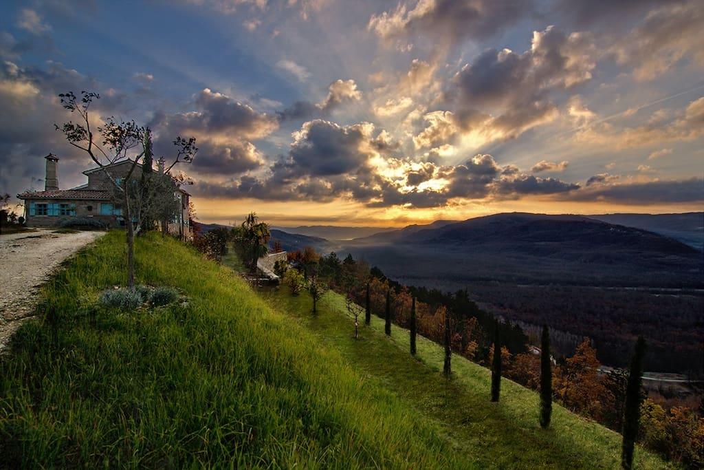 sunrise at Villa Sancta Maria Motovun