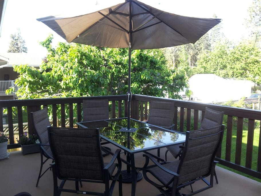 patio over looking garden area in back yard