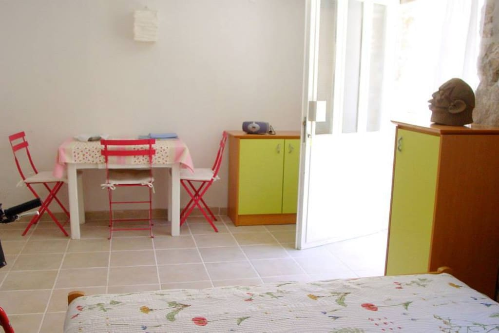 Very quiet, private and charming studio with all what is needed for your stay.