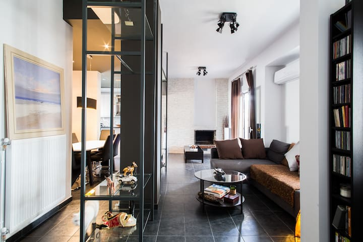 Stylish Penthouse Acropolis/City VIEW Private Room