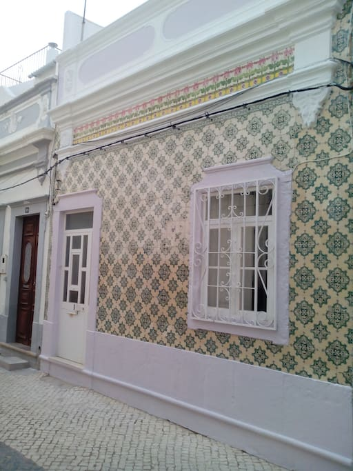 traditional tiled front of house