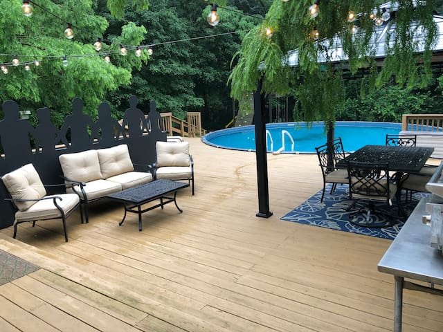 Pool and entertaining deck