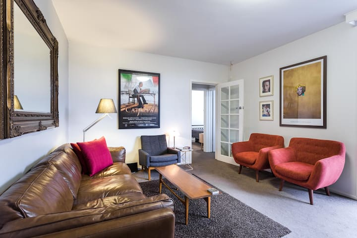 Warm and comfortable living area, a great place to read, relax or enjoy some good company!
