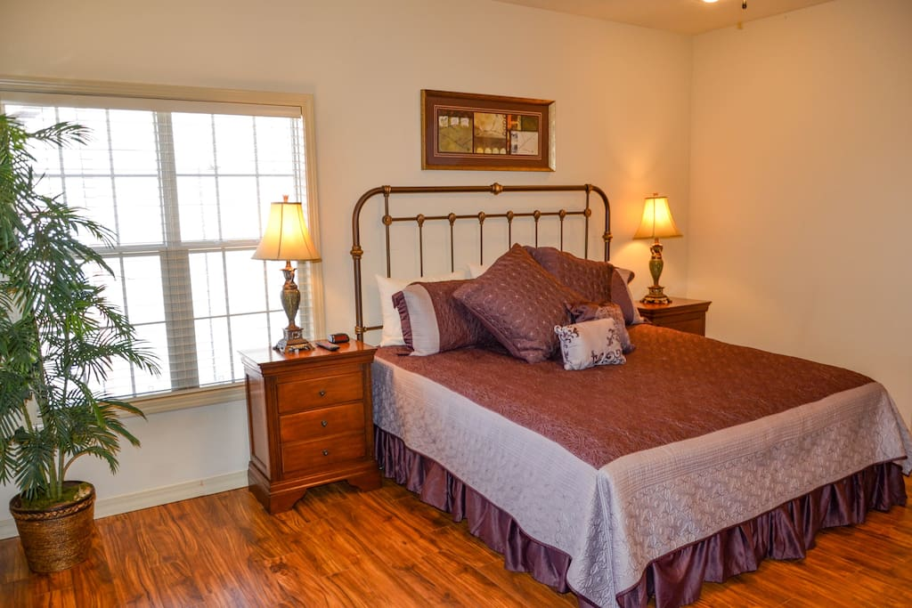 One of two master bedrooms (side-by-side units 3 & 4)