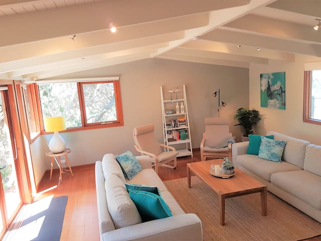 Sun-filled loungeroom