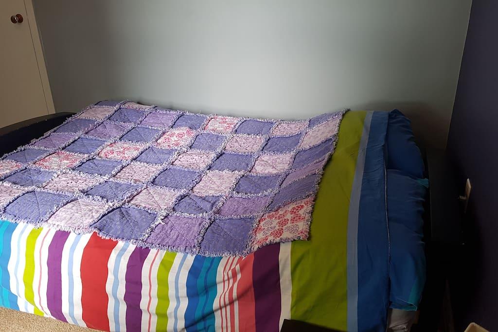 Double sized futon sleeps 1 to 2 people